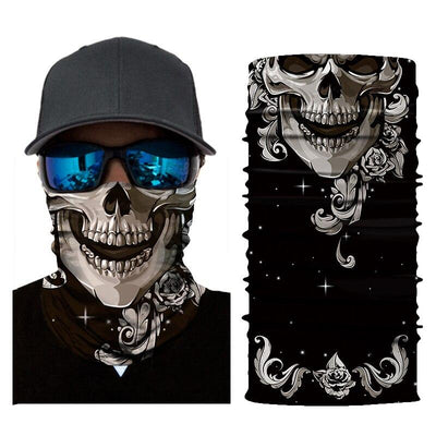 Black and White Skull Bandana