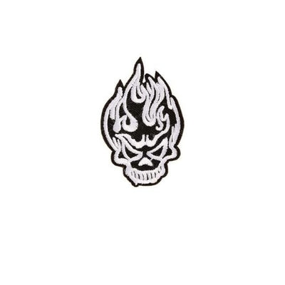Black and White Skull Patch