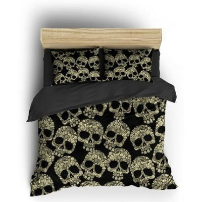 Black and White Sugar Skull Bedding