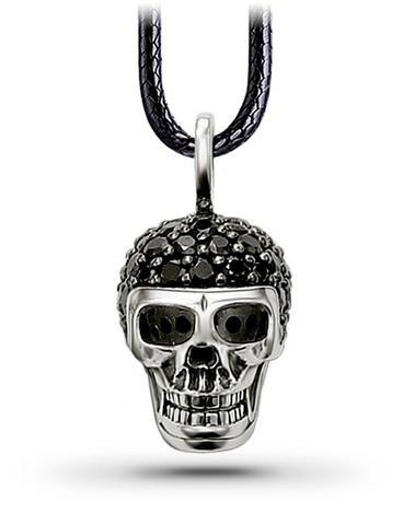 Black Diamond Skull Necklace