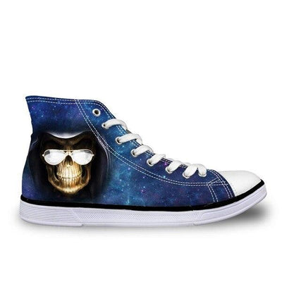 Blue Skull Shoes