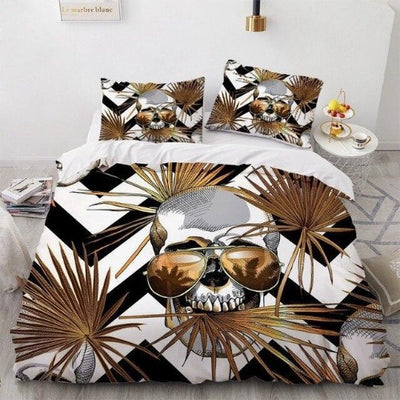 California King Skull Bedding