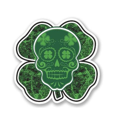 Clover Skull Sticker