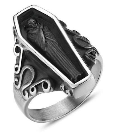 Coffin Skull Ring