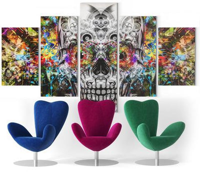 Colorful Skull Wall Art