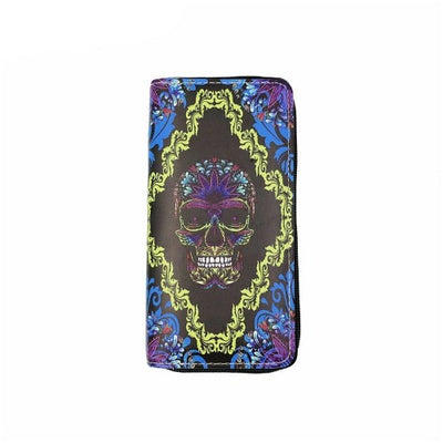Colorful Skull Wallet
