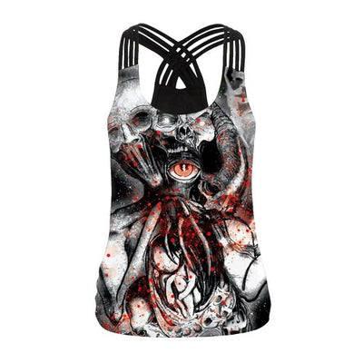 Creepy Skull Tank Top