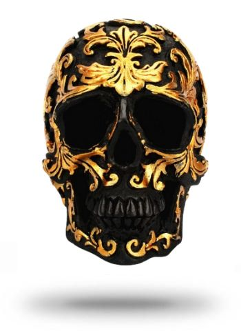 Decorative Gold Skull