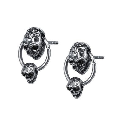 Double Skull Earrings