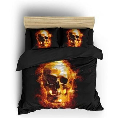 Fire Skull Bedding