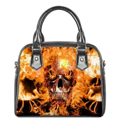 Flaming Skull Bag