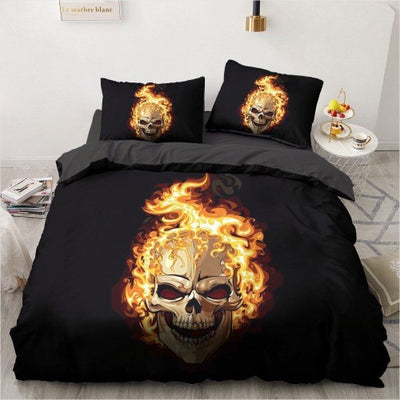 Flaming Skull Bedding