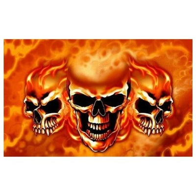 Flaming Skull Flag