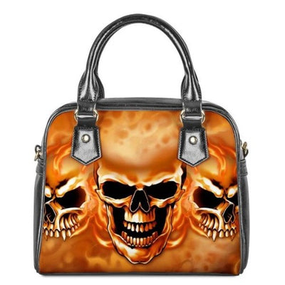 Flaming Skull Handbag