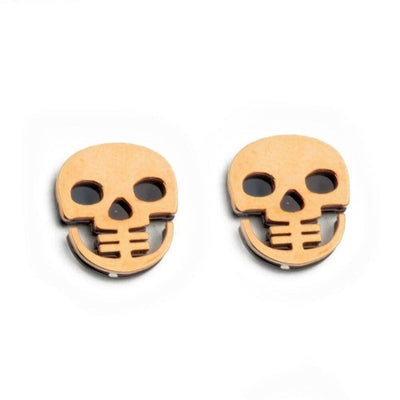 Flat Skull Earrings