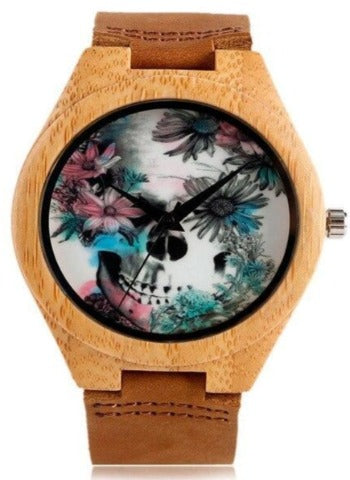 Floral Skull Watch