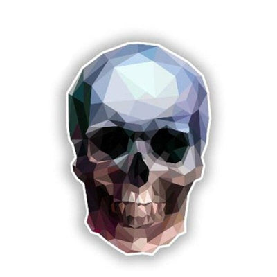 Geometrical Skull Sticker