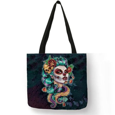 Girly Skull Tote Bag