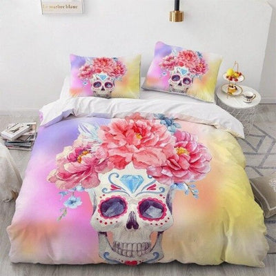 Girly Sugar Skull Bedding