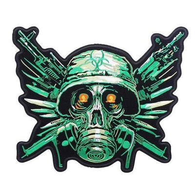 Green Skull Patch