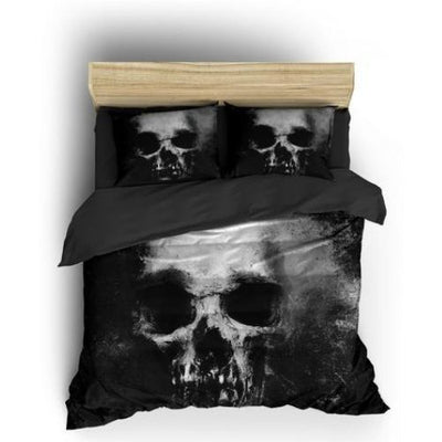 Grey Skull Bedding