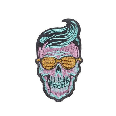 Hipster Skull Patch