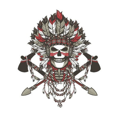 Indian Chief Skull Sticker
