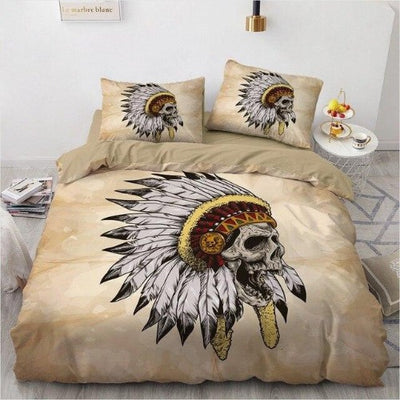 Indian Skull Bedding
