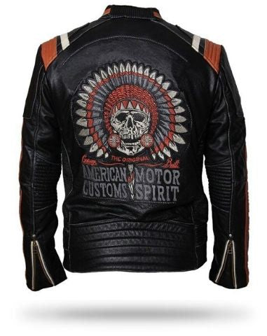 Indian Skull Leather Jacket