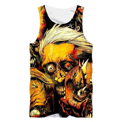Infested Skull Tank Top