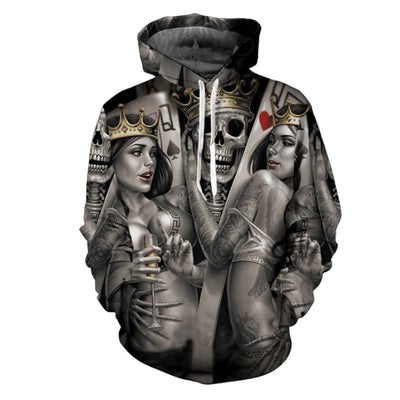 King and Queen Skull Hoodie