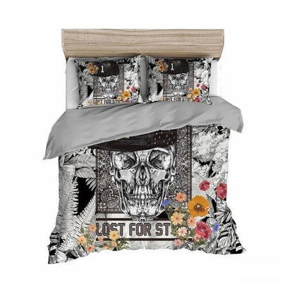 King Skull Bedding