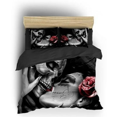 Kissing Skull Bedding