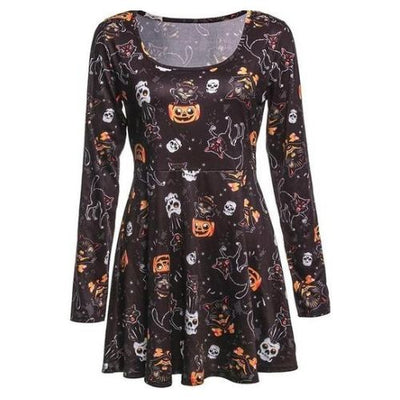 Long Sleeve Skull Dress