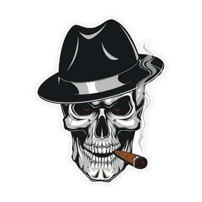 Mafia Skull Sticker