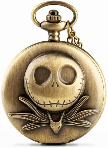 Memento Mori Skull Pocket Watch