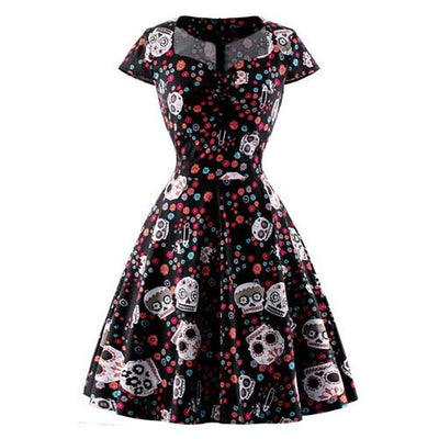 Mexican Sugar Skull Dress