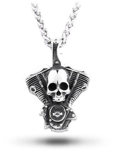 Motor Skull Necklace