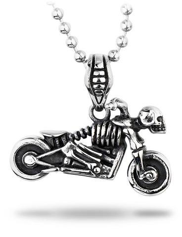 Motorbike Skull Necklace