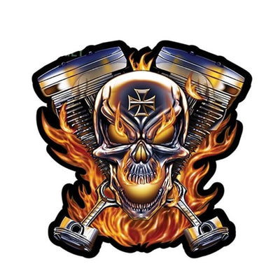 Motorcycle Skull Decal