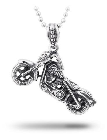 Motorcycle Skull Necklace