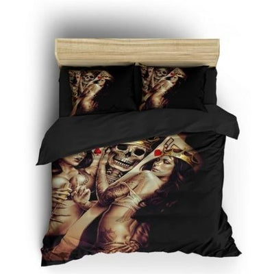 Mr and Mrs Skull Bedding