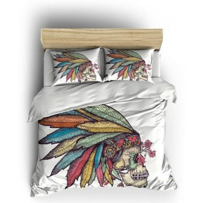 Native American Skull Bedding