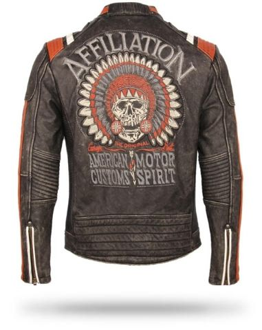 Native American Skull Leather Jacket