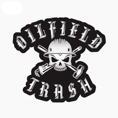 Oil Field Trash Skull Sticker