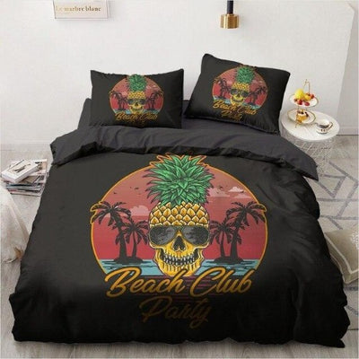 Pineapple Skull Bedding