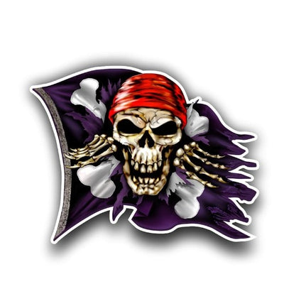 Pirate Flag Skull Sticker
