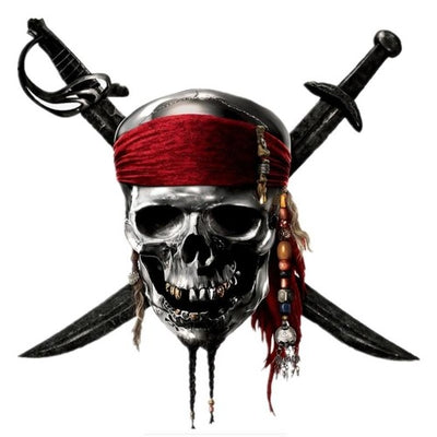 Pirate of the Caribbean Skull Sticker