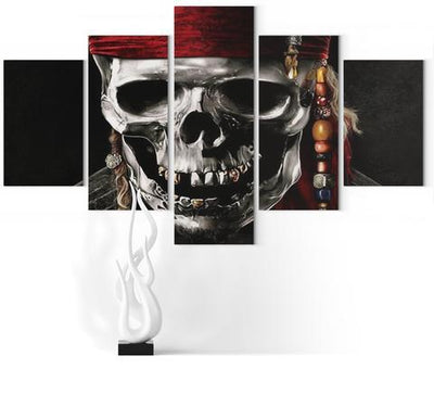 Pirate Of The Caribbean Skull Wall Art