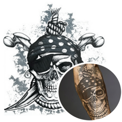 Pirate Skull Temporary Tattoo